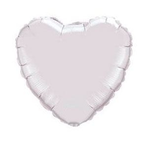 White Heart Balloon- 18 Inch