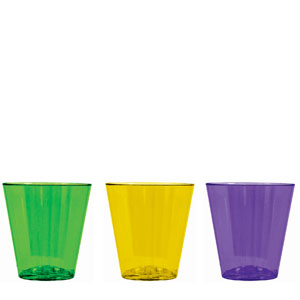 Mardi Gras Shot Glasses-2 oz.