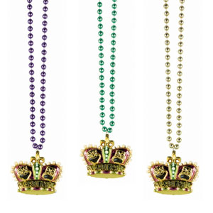 36 Inch Large Crown Bead Necklace