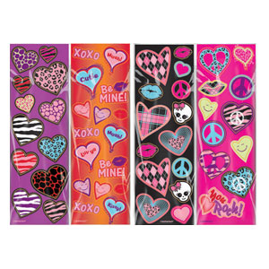 Valentine's Day Trendy Value Pack Stickers