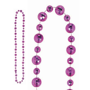 Disco Ball Necklace- Purple