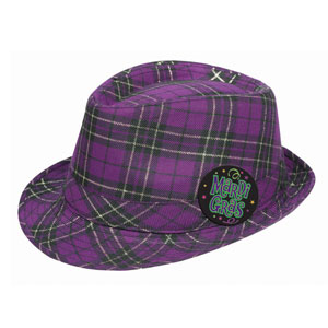 Purple Plaid Fedora
