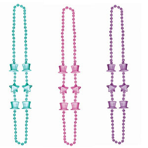 Top Hat Beads- Pink, Purple, Teal