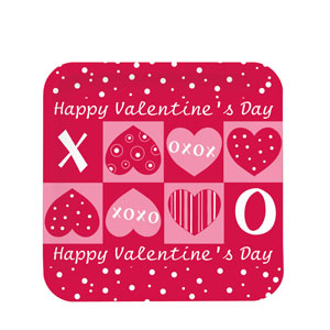 Crafty Hearts 7 Inch Square Plates