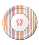 Tiny Toes Pink 7 Inch Plate