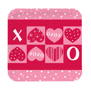 Crafty Hearts 9 Inch Square Plates