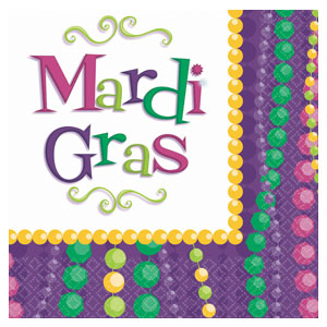 Mardi Gras Celebration Luncheon Napkins