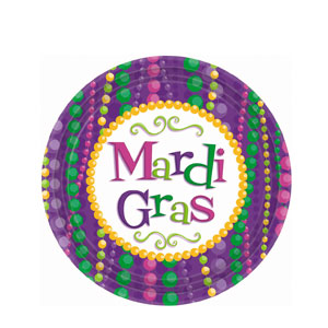 Mardi Gras Celebration 9 Inch Plates