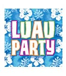 Bahama Luau Luncheon Napkins- 16ct