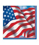 Patriotic Luncheon Napkins- 18ct