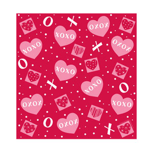 Crafty Hearts Plastic Tablecover