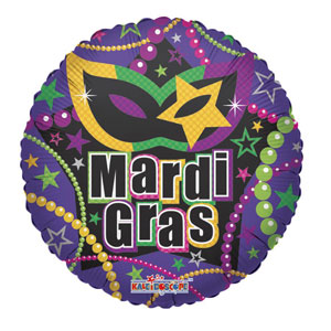 Mardi Gras Necklace Balloon- 18 Inch