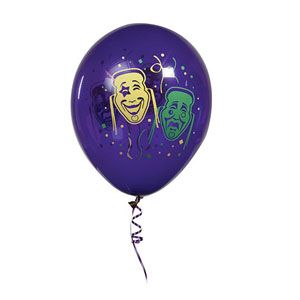 Masks & Confetti Balloons 11 Inch - 25ct