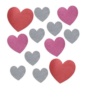 Glitter Hearts Cutout Assortment