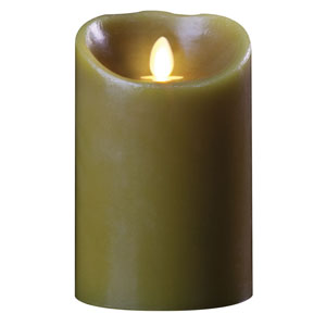 3.5x5 Inch Luminara Candle with Timer - Sage