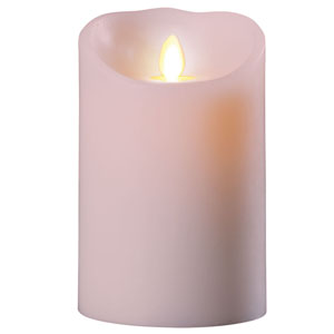 3.5x5 Inch Luminara Candle with Timer - Pink