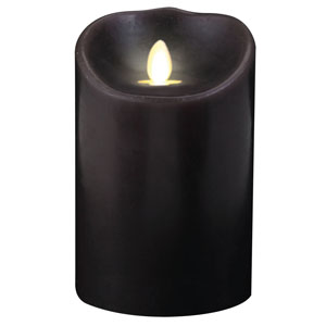 3.5x7 Inch Luminara Candle with Timer - Dark Brown