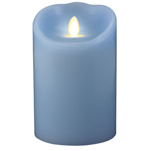 3.5x5 Inch Luminara Candle with Timer - Sky Blue