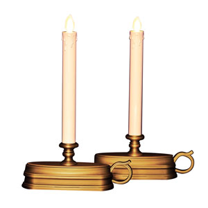 12 Inch Luminara Window Candle with Timer - Bronze