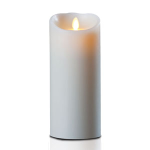 4x9 Inch Luminara Candle with Timer - Ivory