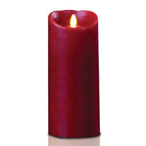 4x9 Inch Luminara Candle with Timer - Burgundy