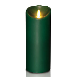 4x9 Inch Luminara Candle with Timer - Forest Green