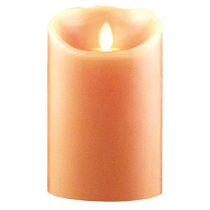3.5x7 Inch Luminara Candle with Timer - Peach