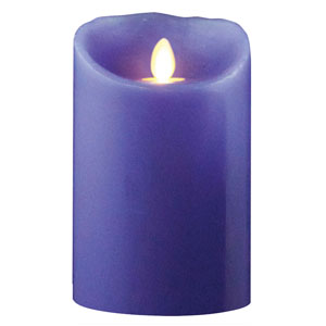 3.5x7 Inch Luminara Candle with Timer - Lavender