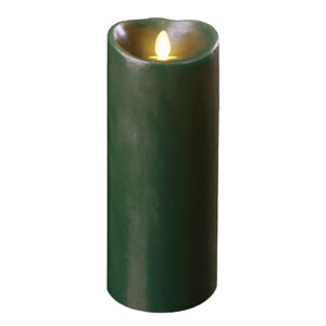 3.5x5 Inch Luminara Candle with Timer - Forest Green