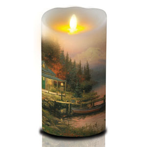 7 Inch Thomas Kinkade Luminara Candle - Perfect Day