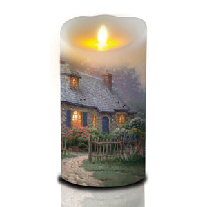 7 Inch Thomas Kinkade Luminara Candle - Cottage