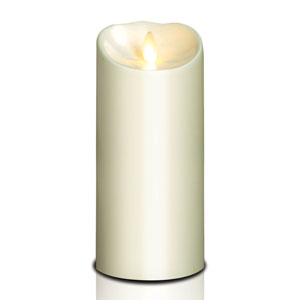 4x9 Inch Outdoor Luminara Candle with Timer - Ivory