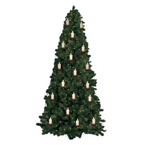 3 Inch Luminara Christmas Tree Strand Candles - 5 Pack