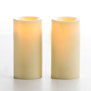 3 Inch Flameless Wax Finish Votive Candle - Cream Unscented - 2 Pack