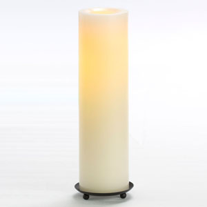 12 Inch Flameless Supreme Quality Pillar Candle with Timer - Cream with Vanilla Scent