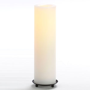12 Inch Flameless Supreme Quality Pillar Candle with Timer - White with Vanilla Scent