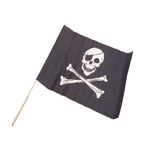 Cloth Pirate Flags - 12x18 Inch