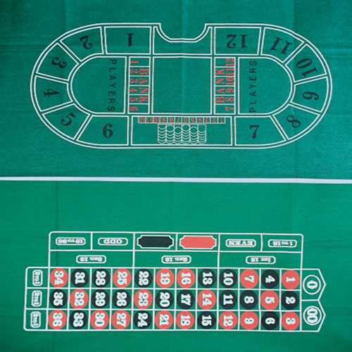 Roulette Table Top Cloth - 36x72 Inch