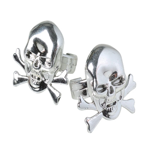 Metallic Skull Rings