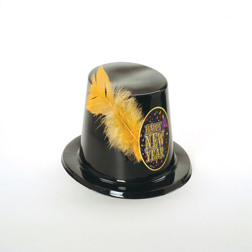 Black New Years Top Hat