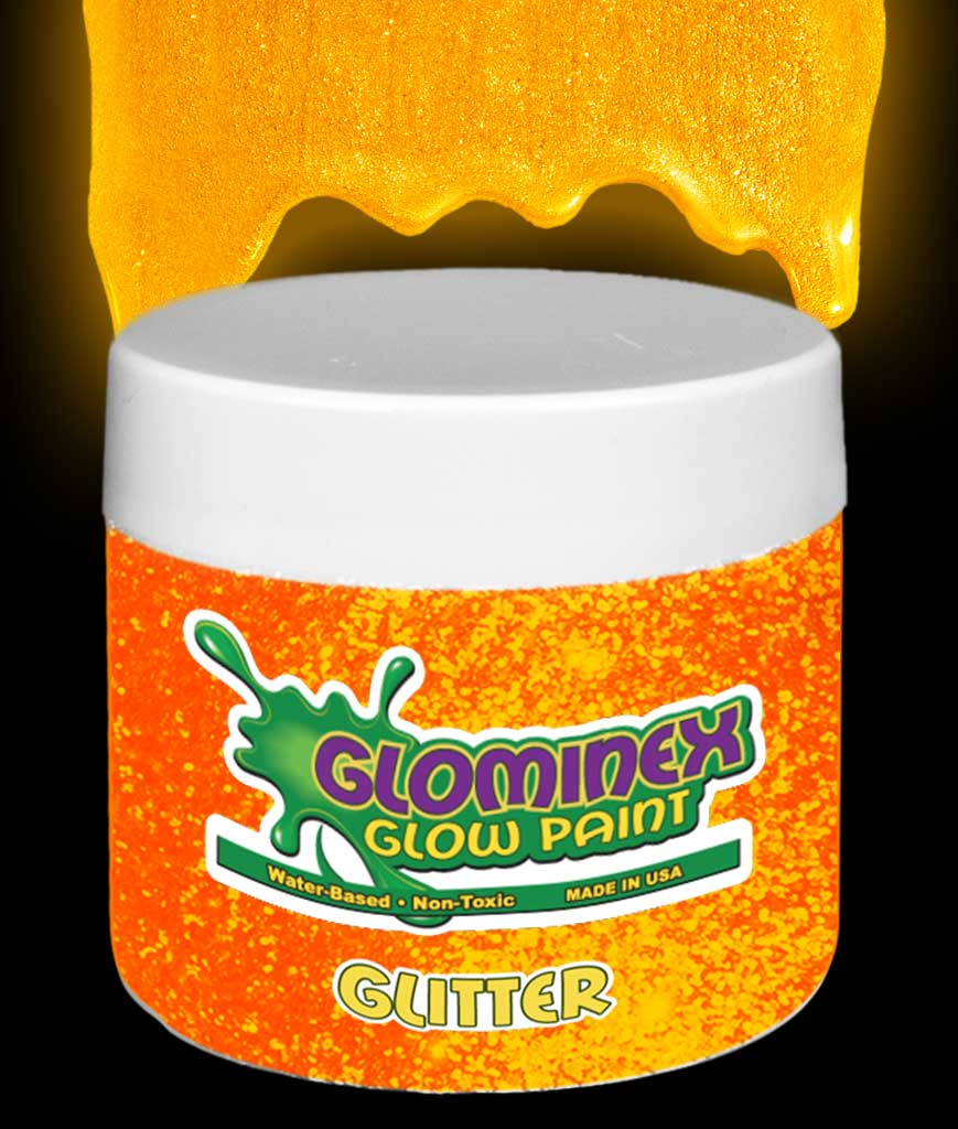 glominex glitter glow in the dark paint pint orange ad371 ad371. Black Bedroom Furniture Sets. Home Design Ideas