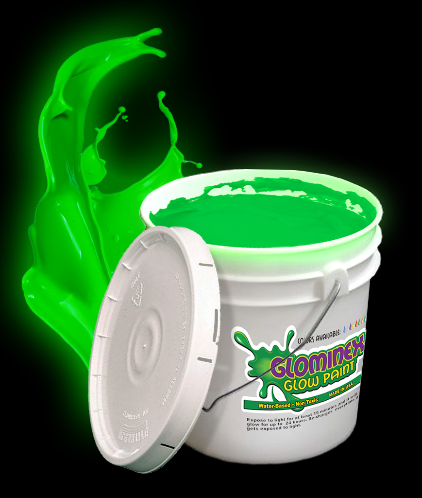 Glominex glow paint gallon green for Paint a dark picture