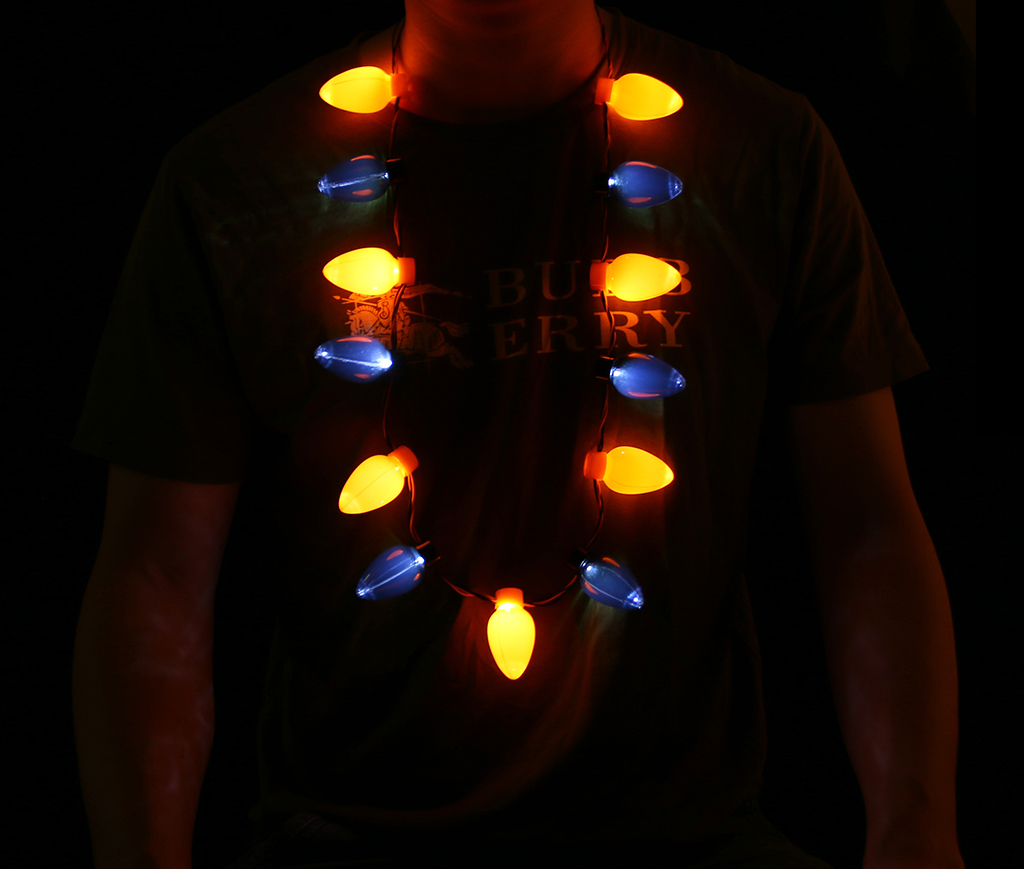 LED Halloween Bulb Necklace