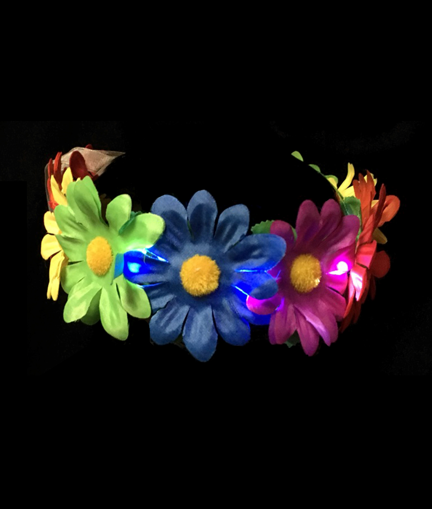 Fun Central BC958 LED Light Up Light-up Rainbow Flower Halo