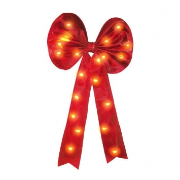 Lighted Flocked Bow