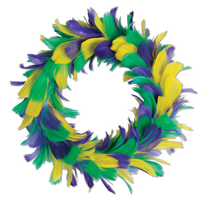 Feather Wreath 8 in