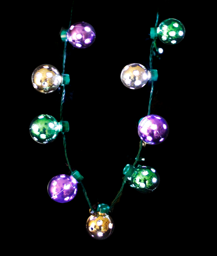 LED Disco Ball Necklace - Mardi Gras