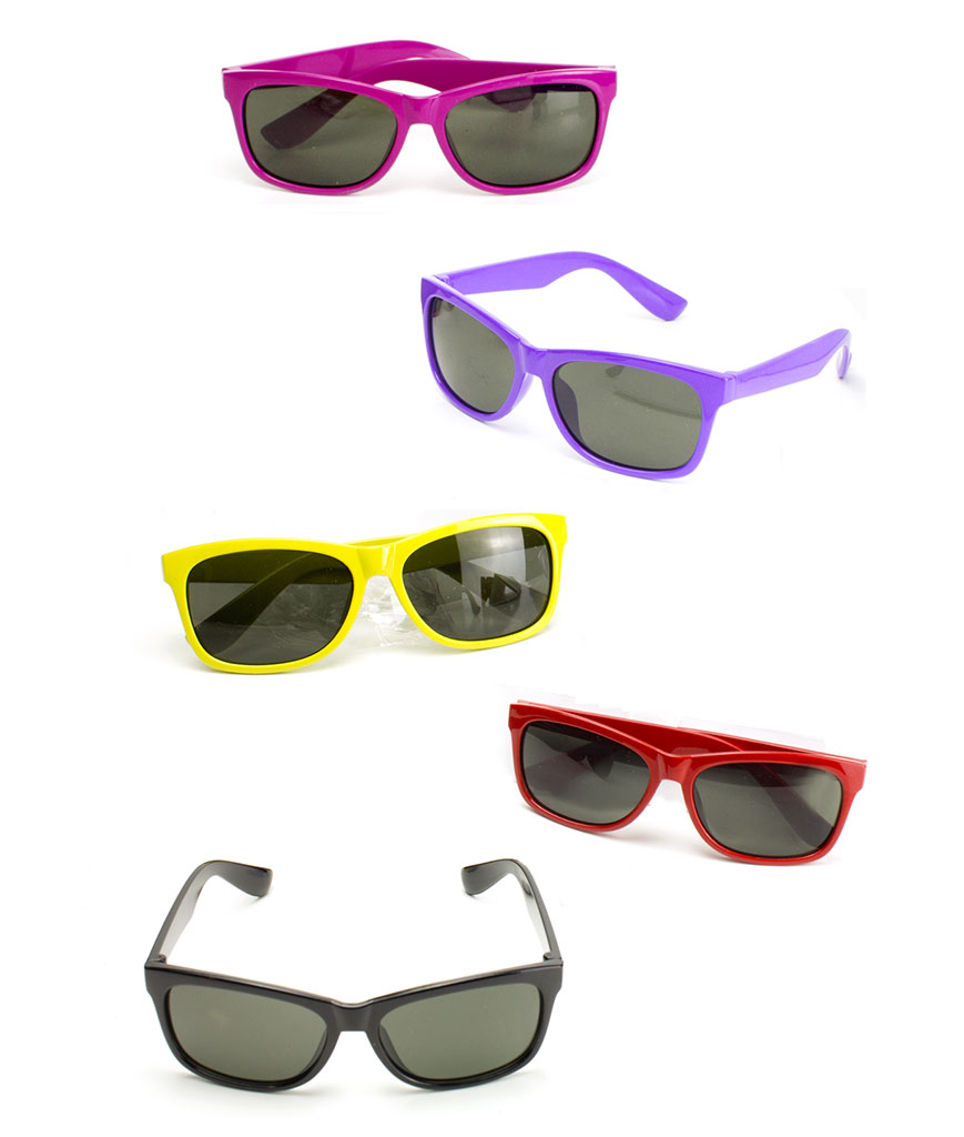 Color Frame Sunglasses Toddler Size- Assorted 12ct