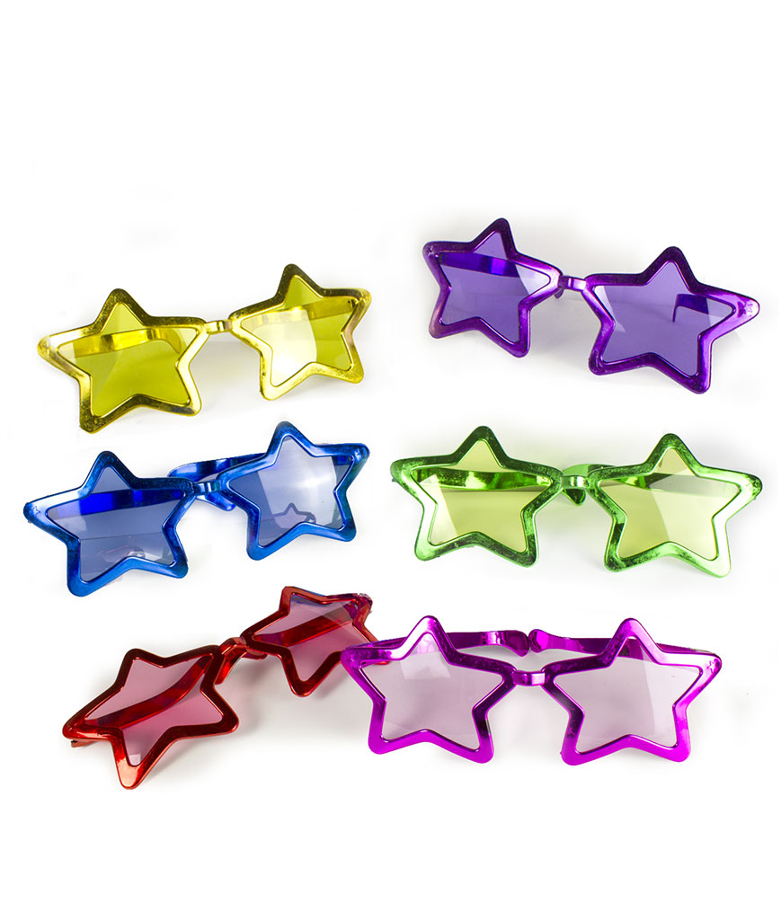 Jumbo Star Shades - Assorted 12ct