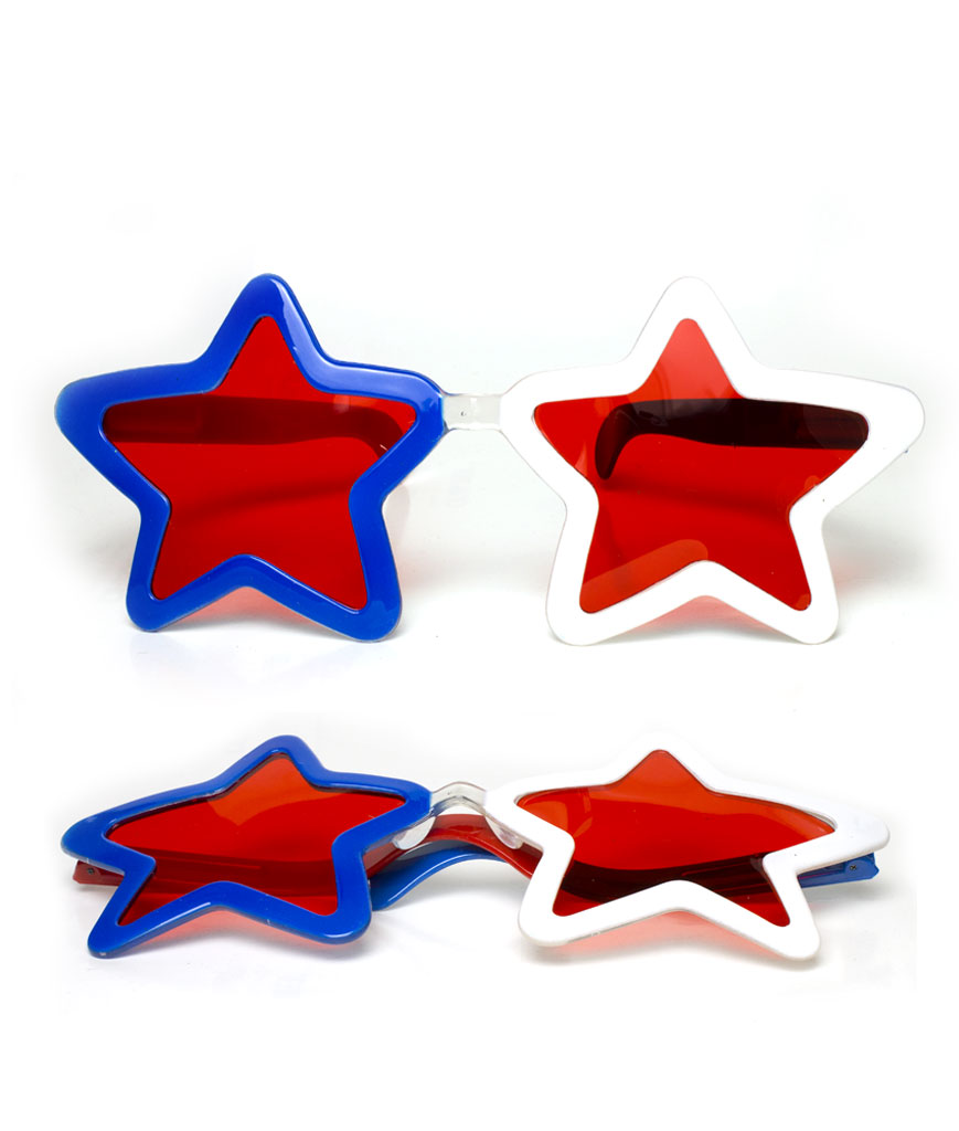 Jumbo Star Shades - Patriotic